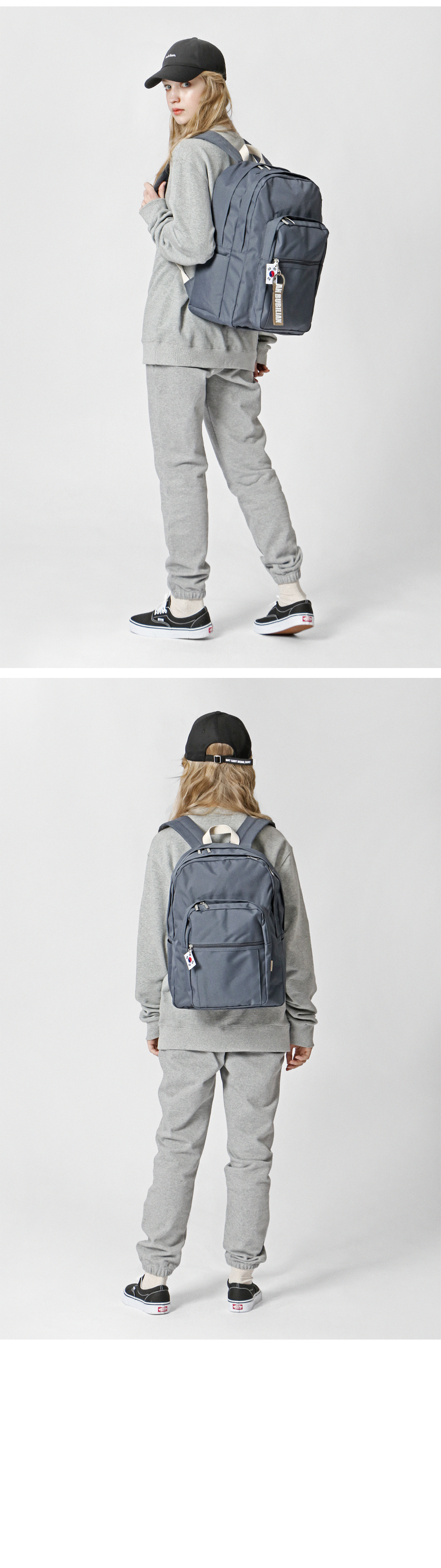 [키홀더 포함] bubilian 815 backpack_DARK GRAY