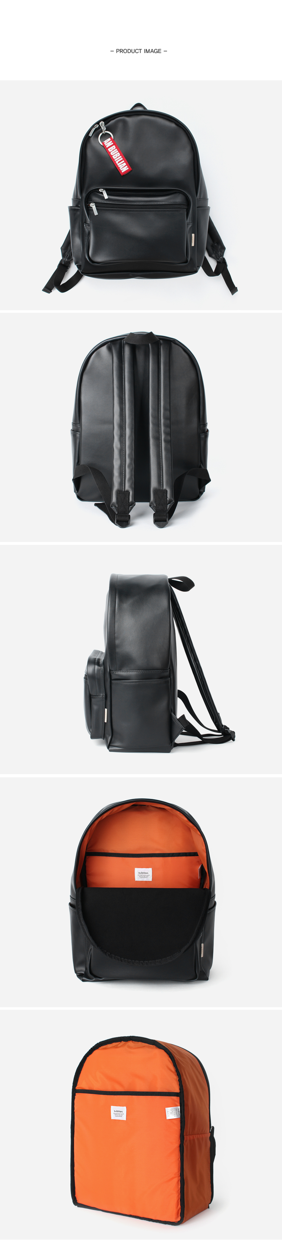 [키홀더 포함] Bubilian Leather Backpack_[ black ]