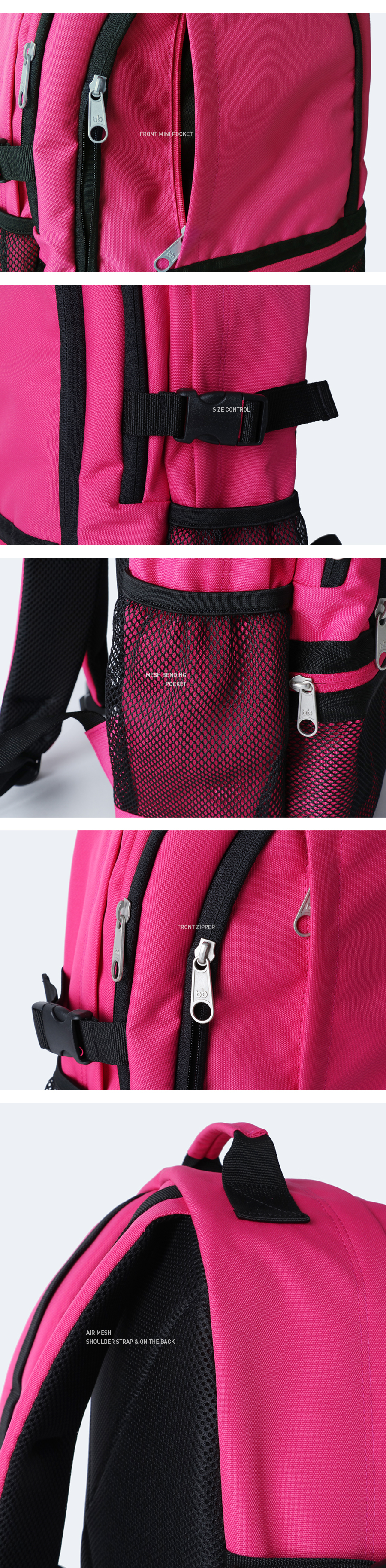 [키홀더 포함] Bubilian 1225 3D backpack_[HOT PINK]