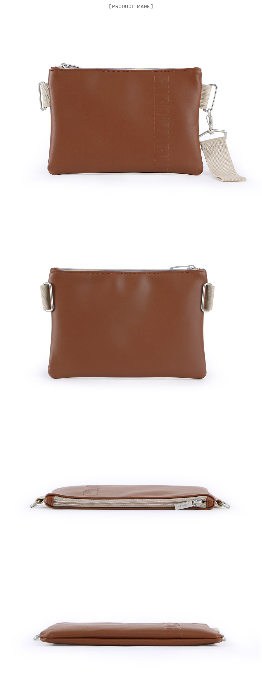 [버빌리안] Bubilian Strap Leather Clutch _ [BROWN]