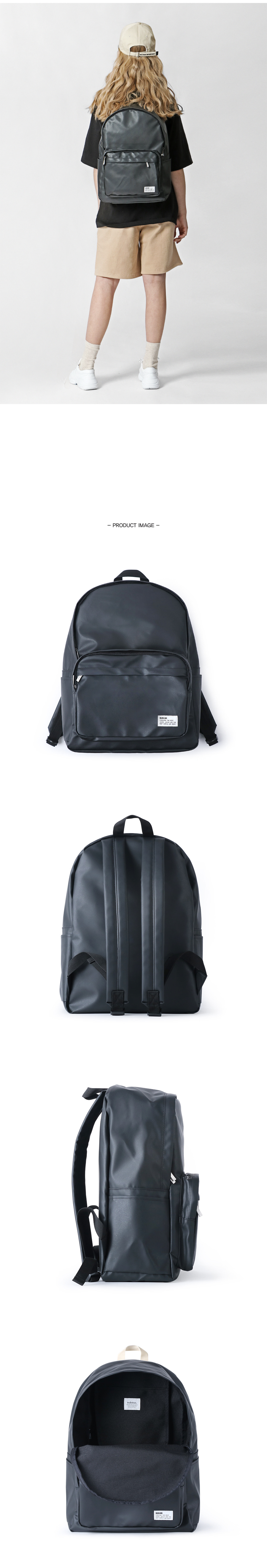 [키홀더 포함] Bubilian Water Proof Backpack_[Black]